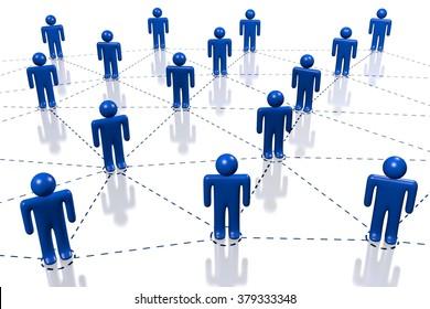 3D social network concept.