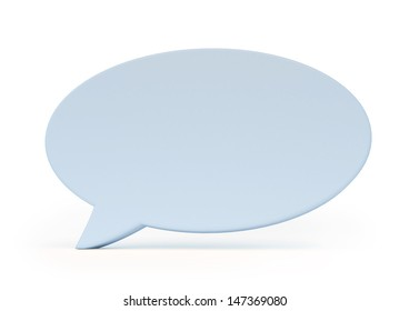 3D speech bubble isolated on white with clipping path