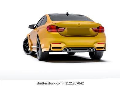 3d sport car, studio render