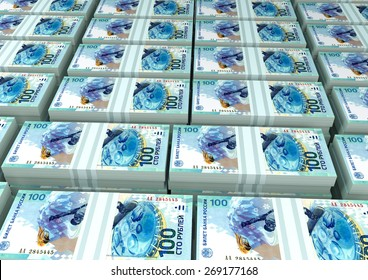3D stack Piles of Russia money