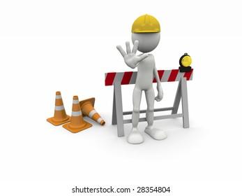3D STOP! Under Construction