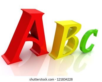 3d symbols of Alphabet