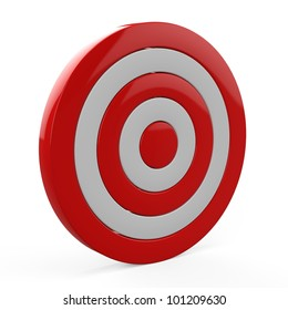 3d target  isolated on white