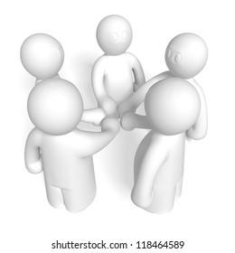 3d team consent on white background, isolated