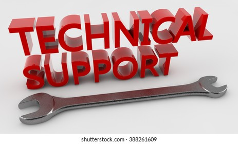 3d technical support text