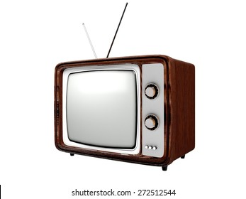 3D. Television, Retro Revival, Old.