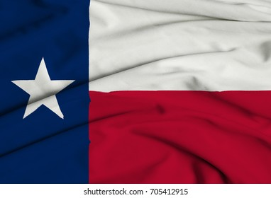 3D Texas Flag Waving