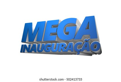 3d text Grand Opening white background