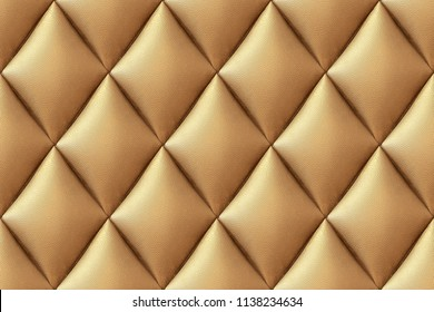 3d texture of padding, A gold texture of padding cushion, Abstact exterior with 3d futuristic wall 3D Render