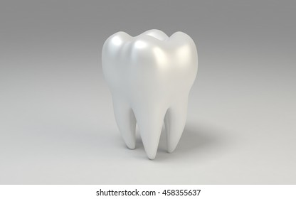 3D tooth isolated on white background