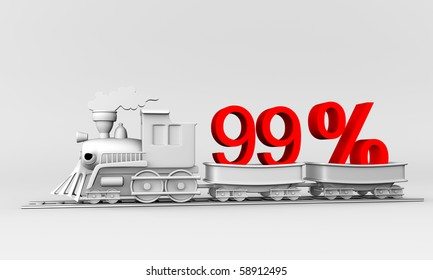 3d train with the car carries 99 % discount.