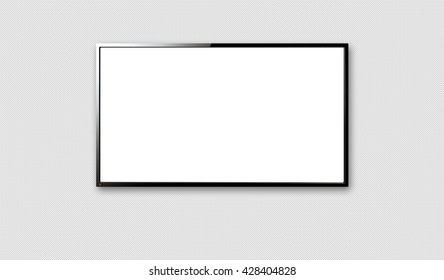 A 3D TV frame with a white background.