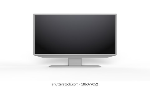 3D TV LCD on withe background