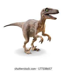 3d Velociraptor front view