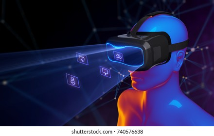 3D Virtual Reality Glasses II. 3D illustration