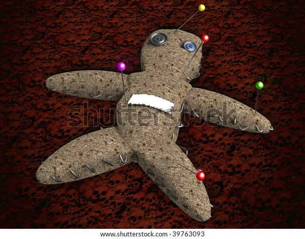 3D voodoo doll with a white space to put a name