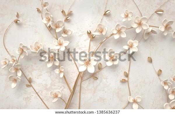 3d wallpaper of beautiful flower background