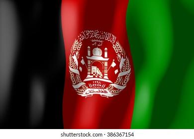 3D waving flag of Afghanistan.
