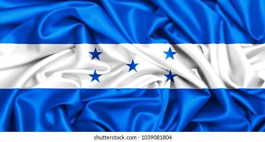 3d waving flag of Honduras, country in Central America