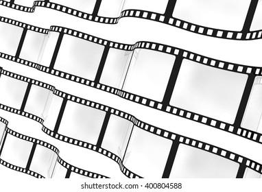 3d: Wavy Film Background
