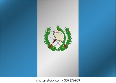 A 3D Wavy Flag Illustration of the country of  Guatemala
