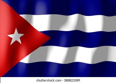 3D weaving flag concept - Cuba.