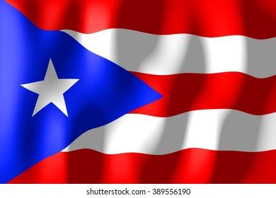 3D weaving flag - Puerto Rico.