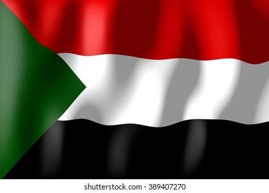 3D weaving flag - Sudan.