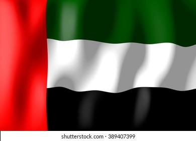 3D weaving flag - United Arab Emirates.