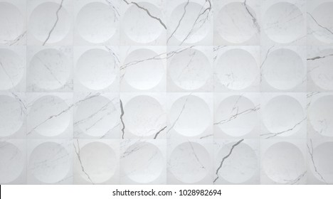 3d White Marble Tiled Wall