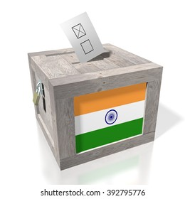 3D wooden ballot box - great for topics like presidential/ parliamentary election in India.