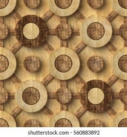 3d, wooden pattern, seamless
