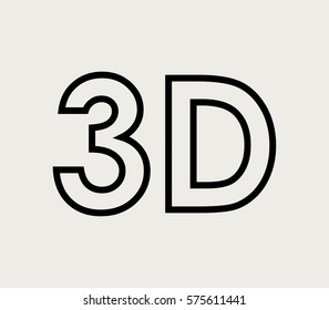 3D word icon