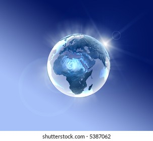 3d world lightning in a metallic style
