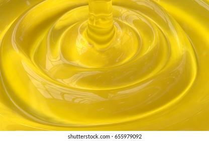 3D yellow cosmetic gel