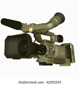 3D-Illustration of a professional HDTV-Video-Camera