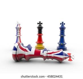 3D-Rendering Chess figure European and british figur