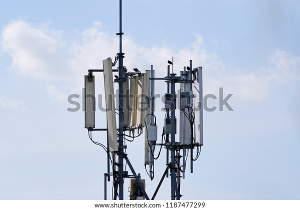 3g 4g 5g Cell Site Telecommunication Stock Photo (Edit Now