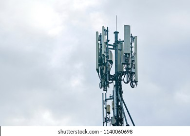 3G, 4G and 5G cellular. Base Station or Base Transceiver Station. Telecommunication tower. Wireless Communication Antenna Transmitter. Development of communication system in urban area.