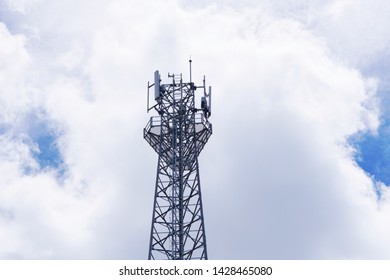 3G, 4G and 5G cellular. Base Station or Base Transceiver Station. Telecommunication tower. Wireless Communication Antenna Transmitter. Telecommunication tower with antennas .