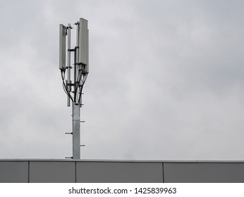 3G, 4G cellular. Base Station or Base Transceiver Station. Telecommunication tower. Wireless Communication Antenna Transmitter. Telecommunication tower with antennas .