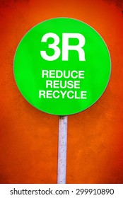 3R - Reduce, Reuse, Recycle, Green Sign for Ecology and Environmental Themed Concept