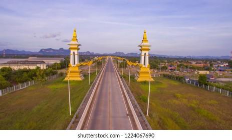 3rd Thai-Lao Friendship Bridge at nakhon phanom,The Third Thai–Lao Friendship Bridge over the Mekong is a bridge that connects Nakhon Phanom Province in Thailand with Thakhek, Khammouane in Laos.