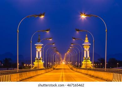 3rd Thai-Lao friendship bridge at nakhon phanom thailand.