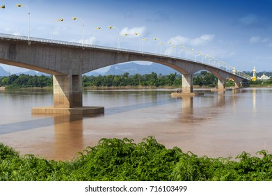 The 3rd Thai-Lao Friendship Bridge over the Mekong River connecting Nakhon Phanom Province in Thailand with Thakhek, Khammouane Province in Lao PDR.