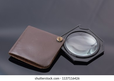 3X  Eye loupe,Vintage Pocket Magnifying Glass in Leather Case