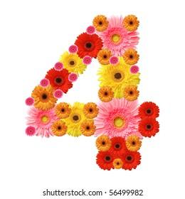 4, arabic numeral
