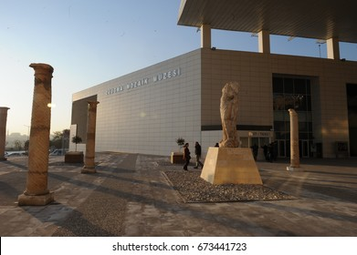 4 December 2011. Gaziantep, Turkey. The Zeugma Mosaic Museum opened in Gaziantep on September 9, 2011 and features 1700 square meters of mosaic and the second largest mosaic museum in the world.