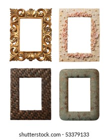 4 different frames isolated on white