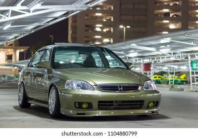 4 Door Sedan Green Car Location : Bangkok Thailand Date : January 8, 2017